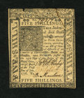 Colonial Notes:Delaware, Delaware January 1, 1776 5s New, damaged....