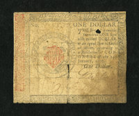 Continental Currency January 14, 1779 $1 Very Good