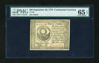 Continental Currency September 26, 1778 $30 PMG Gem Uncirculated 65 EPQ