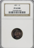 Proof Indian Cents: , 1891 1C PR63 Red and Brown NGC. NGC Census: (14/119). PCGS Population (39/140). Mintage: 2,350. Numismedia Wsl. Price for N...