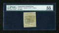 Colonial Notes:Connecticut, Connecticut October 11, 1777 5d Uncancelled PMG About Uncirculated55....