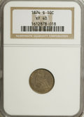 Seated Dimes: , 1874-S 10C Arrows XF40 NGC. NGC Census: (1/29). PCGS Population(0/38). Mintage: 240,000. Numismedia Wsl. Price for NGC/PCG...