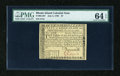 Colonial Notes:Rhode Island, Rhode Island July 2, 1780 $7 PMG Choice Uncirculated 64 EPQ....