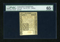 Colonial Notes:Connecticut, Connecticut June 19, 1776 1s Uncancelled PMG Gem Uncirculated 65 EPQ....