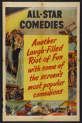 """Movie Posters:Short Subject, All-Star Comedies Stock Poster (Columbia, 1950). One Sheet (27"""" X41""""). Short Subject...."""