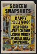 "Movie Posters:Short Subject, Screen Snapshots Stock Poster (Columbia, 1946). One Sheet (27"" X41""). Short Subject. ""Happy Hollywood!"" ..."