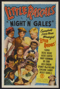 """Movie Posters:Comedy, Little Rascals Stock Poster (Monogram, 1950). One Sheet (27"""" X 41""""). Comedy. """"Night'N Gales.""""..."""
