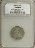 Seated Quarters: , 1849-O 25C --Improperly Cleaned--NCS. Good Details. NGC Census:(1/27). PCGS Population (2/39). Numismedia Wsl. Price for N...