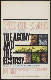 "The Agony and the Ecstasy (20th Century Fox, 1965). Window Card (14"" X 22""). Drama"