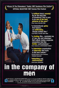 "In the Company of Men (Sony Pictures Classics, 1997). One Sheet (27"" X 40"") SS. Comedy"