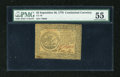 Colonial Notes:Continental Congress Issues, Continental Currency September 26, 1778 $5 PMG About Uncirculated55....