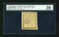 Colonial Notes:Pennsylvania, Pennsylvania April 20, 1781 3d PMG Choice About Unc 58....