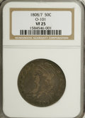 Bust Half Dollars: , 1808/7 50C VF25 NGC. O-101. NGC Census: (4/112). PCGS Population(6/95). Numismedia Wsl. Price for NGC/PCGS coin in VF25:...