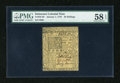 Colonial Notes:Delaware, Delaware January 1, 1776 20s PMG Choice About Unc 58 EPQ....