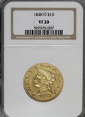Liberty Eagles: , 1848-O $10 VF30 NGC. NGC Census: (4/153). PCGS Population (8/87).Mintage: 35,850. Numismedia Wsl. Price for NGC/PCGS coin ...