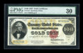 Large Size:Gold Certificates, Fr. 1215 $100 1922 Gold Certificate PMG Very Fine 30....