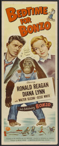 """Movie Posters:Comedy, Bedtime for Bonzo (Universal, 1951). Insert (14"""" X 36""""). Comedy...."""