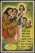 """Movie Posters:Musical, I'll Remember April (Universal, 1945). One Sheet (27"""" X 41""""). Musical...."""