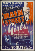 "Movie Posters:Sexploitation, Main Street Girls (Syndicate Pictures, 1938). One Sheet (28"" X41""). Sexploitation...."