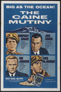 "Movie Posters:War, The Caine Mutiny (Columbia, R-1959). One Sheet (27"" X 41""). War...."