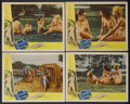 "Movie Posters:Adult, Forbidden Paradise (Colorama, 1958). Lobby Cards (4) (11"" X 14""). Adult.... (Total: 4 Items)"