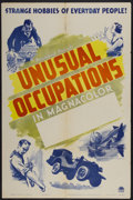 """Movie Posters:Short Subject, Unusual Occupations Stock (Paramount, 1941). One Sheet (27"""" X 41"""").Short Subject...."""