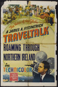 "Movie Posters:Documentary, FitzPatrick Traveltalks Stock Poster (MGM, 1942). One Sheet (27"" X 41""). Documentary. ""Roaming Through Northern Ireland.""..."