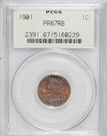 Proof Indian Cents, 1901 1C PR67 Red and Brown PCGS....