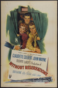 """Movie Posters:Comedy, Without Reservations (RKO, 1946). One Sheet (27"""" X 41""""). Comedy...."""