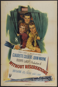 "Without Reservations (RKO, 1946). One Sheet (27"" X 41""). Comedy"