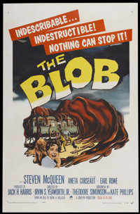"The Blob (Paramount, 1958). One Sheet (27"" X 41.25""). Science Fiction"