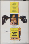 "Movie Posters:Mystery, Town on Trial (Columbia, 1957). One Sheet (27"" X 41""). Mystery...."