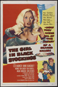 "Movie Posters:Crime, The Girl in Black Stockings (United Artists, 1957). One Sheet (27""X 41""). Crime...."