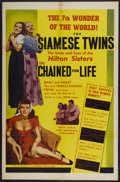 "Movie Posters:Cult Classic, Chained For Life (Classic Pictures, 1951). One Sheet (27"" X 41"").Cult Classic...."