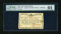 Colonial Notes:New York, New York August 2, 1775 (Water Works) 2s PMG Choice Uncirculated64....