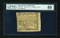 Colonial Notes:Pennsylvania, Pennsylvania April 3, 1772 2s/6d PMG Extremely Fine 40....