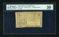 Colonial Notes:Pennsylvania, Pennsylvania April 10, 1777 1s/6d PMG Very Fine 30....