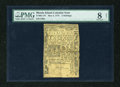 Colonial Notes:Rhode Island, Rhode Island May 3, 1775 2s PMG Very Good Net 8....