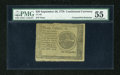 Colonial Notes:Continental Congress Issues, Continental Currency September 26, 1778 $20 Blue CounterfeitDetector PMG About Uncirculated 55....