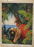 Original Comic Art:Covers, Romance Pulp Magazine Cover Original Art (c. 1939)....