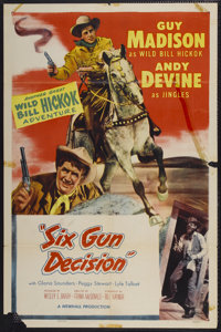"""Six Gun Decision (Allied Artists, 1953). One Sheet (27"""" X 41"""") Style A. Western"""