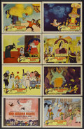 "Movie Posters:Animated, 1001 Arabian Nights (Columbia, 1959). Lobby Card Set of 8 (11"" X 14""). Animated.... (Total: 8 Items)"