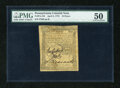 Colonial Notes:Pennsylvania, Pennsylvania April 3, 1772 18d PMG About Uncirculated 50....