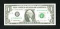 Error Notes:Ink Smears, Fr. 1921-B $1 1995 Federal Reserve Note. Choice CrispUncirculated.. ...