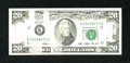 Error Notes:Missing Magnetic Ink, Fr. 2079-K $20 1993 Federal Reserve Note. Choice CrispUncirculated.. ...