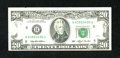 Error Notes:Missing Magnetic Ink, Fr. 2080-H $20 1993 Federal Reserve Note. Extremely Fine.. ...