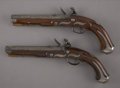 Military & Patriotic:Pre-Civil War, Magnificent Matched Pair of Silver Mounted Pennsylvania/ Kentucky Pistols by William M. Sheetz... (Total: 2 Items)