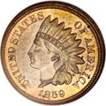 Patterns, 1859 P1C Indian Cent, Judd-227, Pollock-271, Low R.6, MS64 NGC....