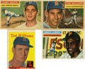 Baseball Cards:Lots, 1956-1958 Topps Baseball Collection (4). Three all-time great arerepresented in this great little group. Includes 1956 Top...