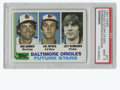 Baseball Cards:Singles (1970-Now), 1982 Topps Orioles Future Stars (Ripken) #21 PSA Mint 9. The first regular rookie Topps card from the Baltimore Orioles' ma...